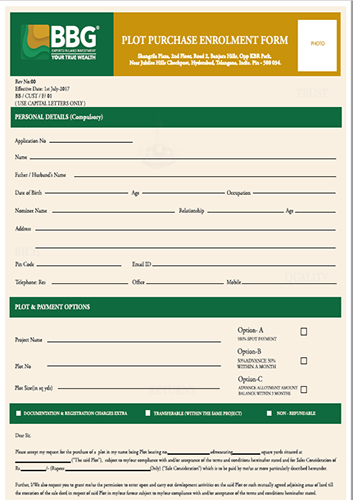 Plot Purchase Application Download